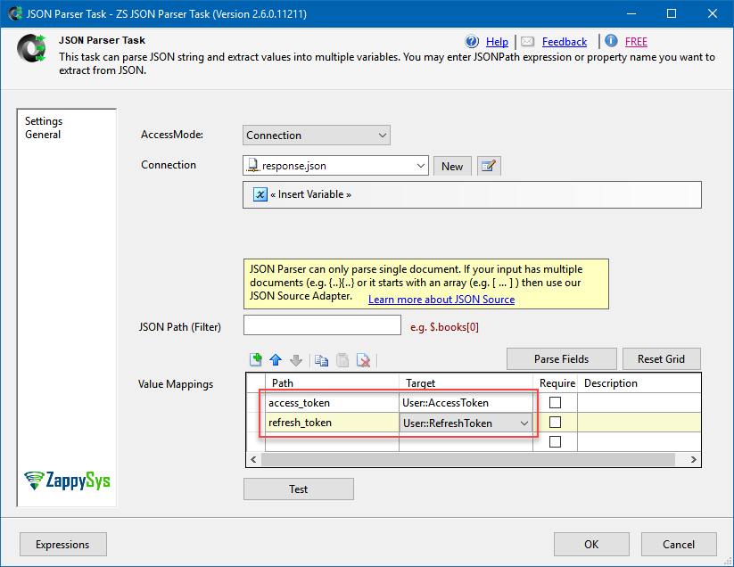 How to handle Changing OAuth RefreshToken in SSIS / ODBC