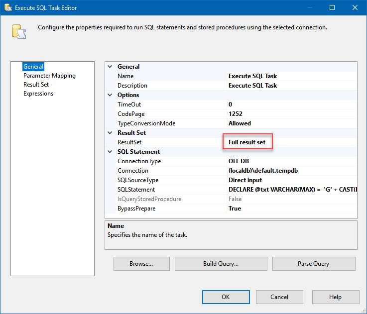 How to overcome string variable 4000/8000 length limitation in SSIS