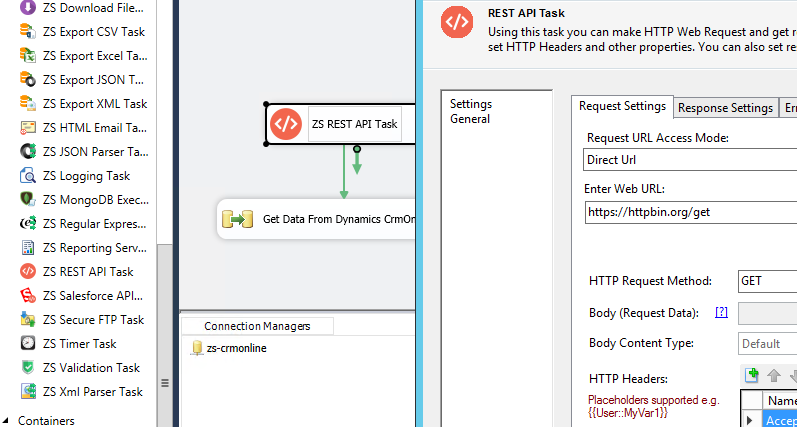 SSIS Dynamics CRM - The underlying connection was closed
