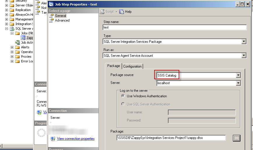 SSIS Package works under Catalog but fails under SQL Agent Account
