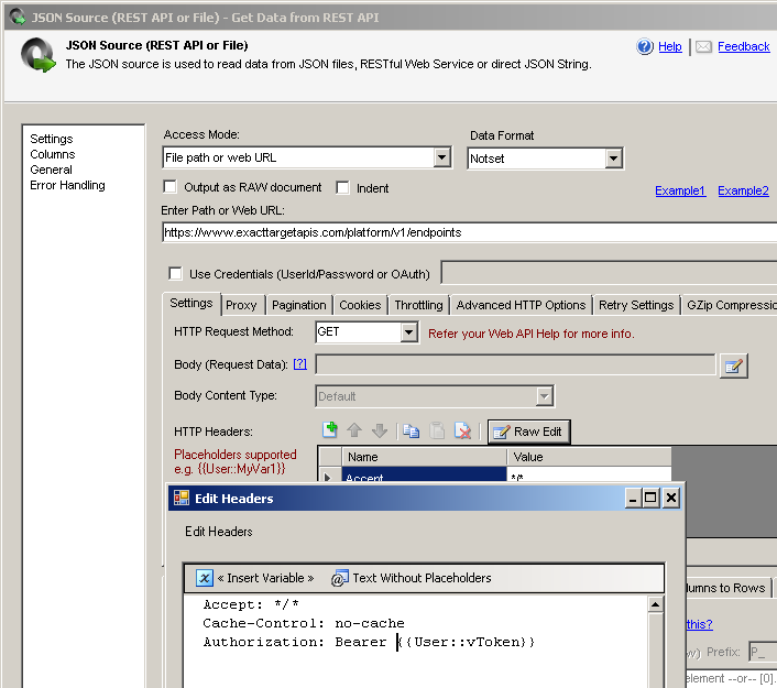 How to read Salesforce Marketing Cloud data in SSIS using REST API