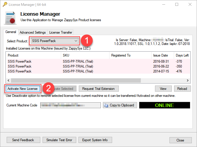 How to transfer SSIS PowerPack license from one machine to