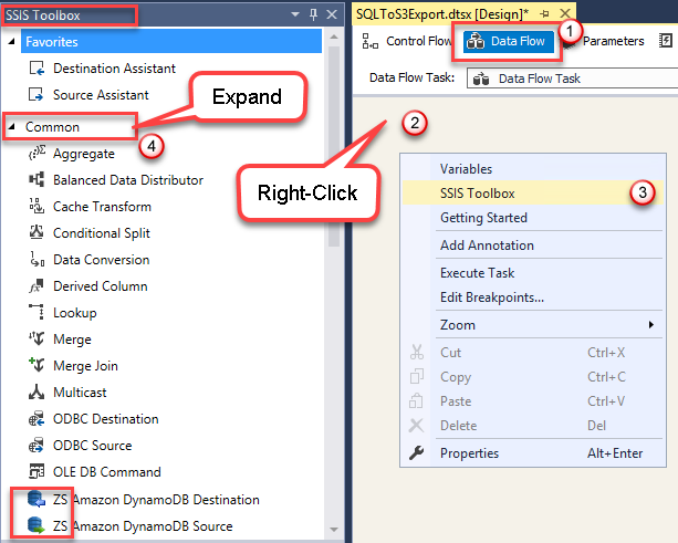 I don't see PowerPack components in SSIS Toolbox – ZappySys